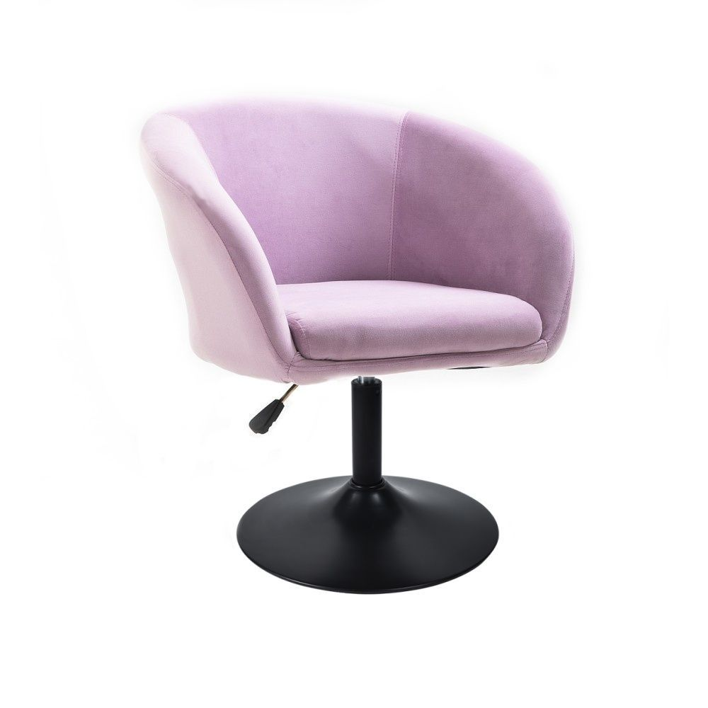 Kosmetická židle VENICE VELUR na černém talíři - fialový vřes