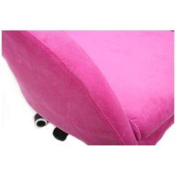 Kosmetická židle VENICE VELUR na stříbrném talíři - růžová