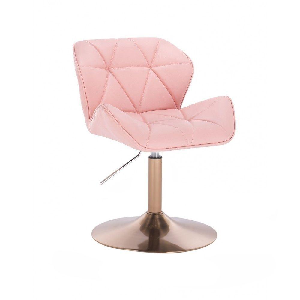 Kosmetická židle MILANO na zlatém talíři - růžová