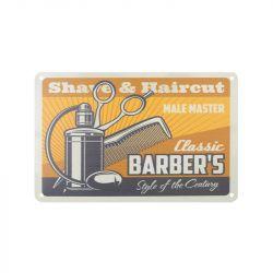 Plechová retro cedule Barbershop B001