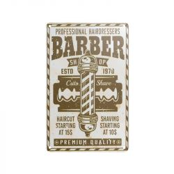 Plechová retro cedule Barbershop B022