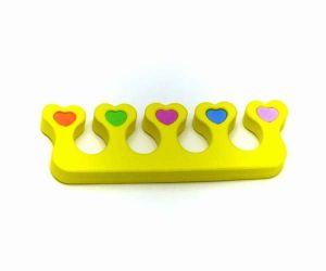 Oddělovač prstů, separátor (1 pár) - žlutý