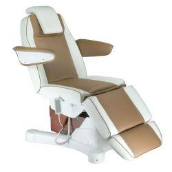 Elektrické kosmetické křeslo Napoli BG-207A bílo-hnědé
