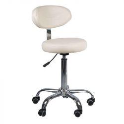 Kosmetická stolička s opěrátkem BD-9934 krémová