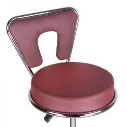 Kosmetická stolička s opěrkou BG-823 hnědá