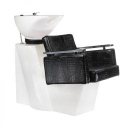 Kadeřnický mycí box SIMONE černá