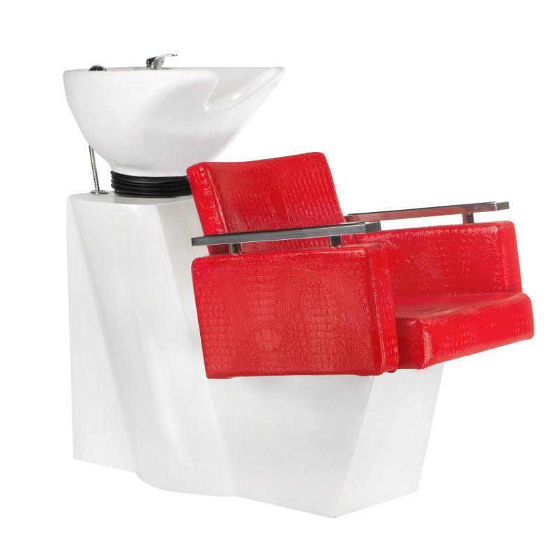 Kadeřnický mycí box SIMONE červená