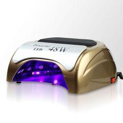 LED lampa na nehty 48W - zlatá