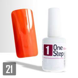 One Step gel UV/LED 3v1 jasně oranžový 15ml (A)