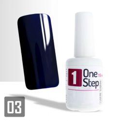 One Step gel UV/LED 3v1 tmavě modrý (mazarine) 15ml (A)