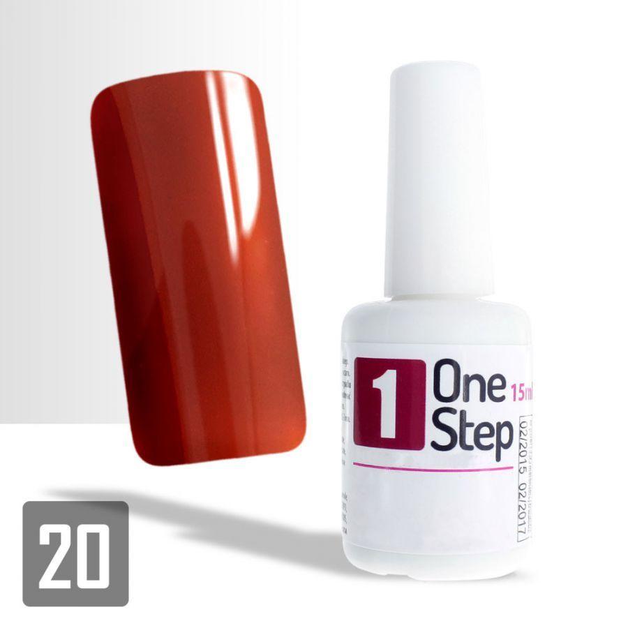 One Step gel UV/LED 3v1 železná červeň 15ml