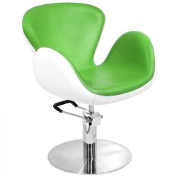 Kadeřnické křeslo GABBIANO AMSTERDAM zeleno-bílé (AS)