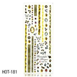 Vodolepky na zdobení nehtů - velký list 12,7 x 5,5cm HOT-181 (A)
