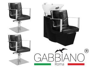 Kadeřnický set 2+1 GABBIANO ROMA černý (AS)