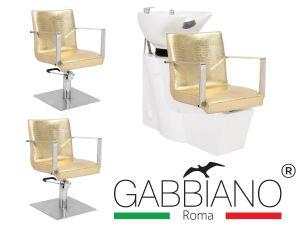 Kadeřnický set 2+1 GABBIANO ROMA zlatý (AS)