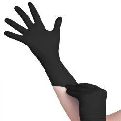 Jednorázové nitrilové rukavice černé - velikost XS (AS)