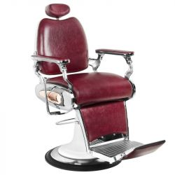 Barbers holičské křeslo MOTO STYLE bordó (AS)