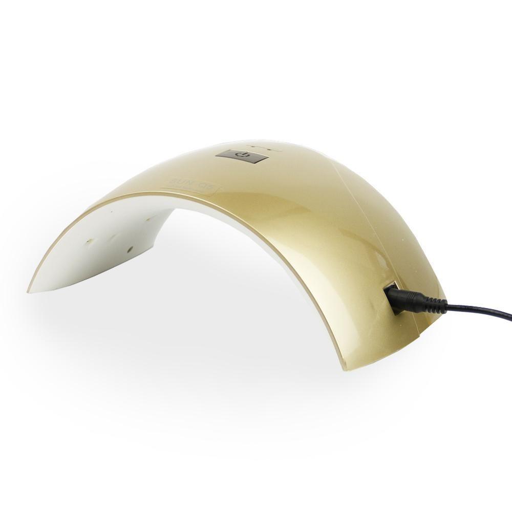 UV LED lampa Sun Q5 24W - zlatá