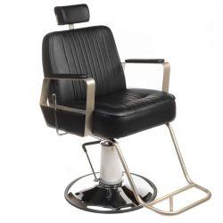 Barbers - holičské křeslo HOMER BH-31237 černé LUX (BS)