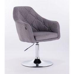Křeslo HR831 šedé - textilní (V)