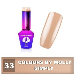 33 Gel lak Colours by Molly 10ml - Simply (A)