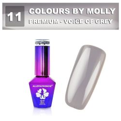 11 Gel lak Colours by Molly PREMIUM 10ml -VOICE OF GREY- (A)