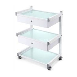 Pojízdný stolek se 3 policemi a 2 zásuvkami (K)