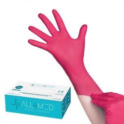 Jednorázové nitrilové rukavice malinové - velikost M (AS)
