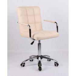 Židle na kolečkách HC-1015KP krémová (V)