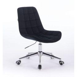 Židle na kolečkách HR590K velurová černá