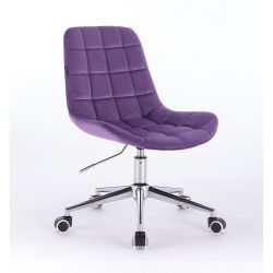 Židle na kolečkách HR590K velurová fialová (V)