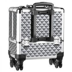 Kosmetický kufr přenosný SA8365 - stříbrný