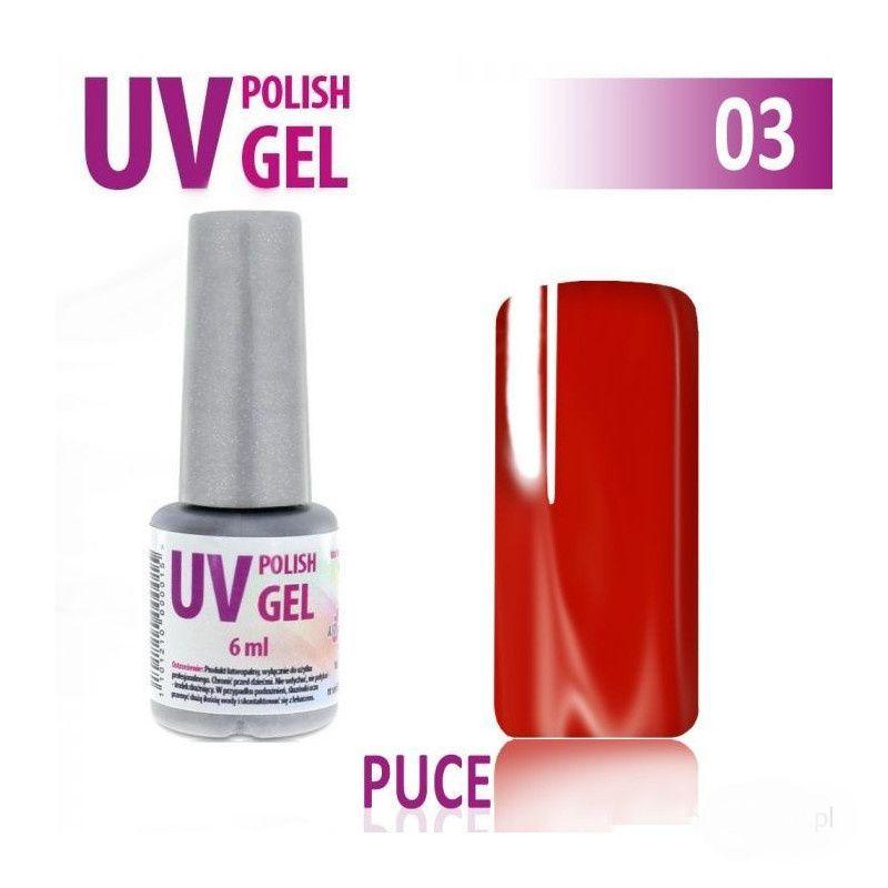 UV gel na nehty hybridní PUCE - červený