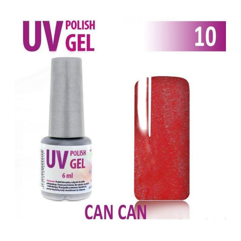 10.UV gel lak na nehty hybridní CAN CAN korálová 6 ml