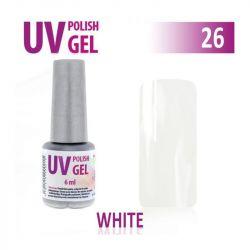26.UV gel lak hybridní WHITE bílý 6 ml (A)