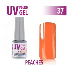 37.UV gel lak hybridní PEACHES meruňka 6 ml (A)
