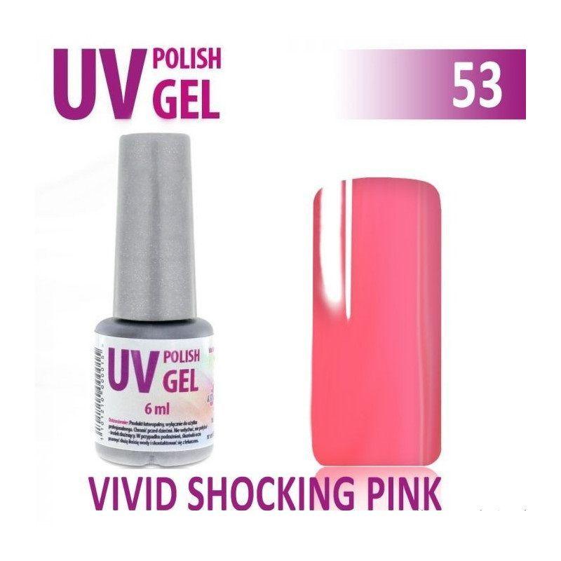 53.UV gel lak na nehty hybridní VIVID SHOCKING PINK 6 ml