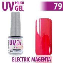 79.UV gel lak na nehty hybridní ELECTRIC MAGENTA 6 ml (A)