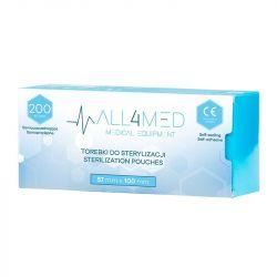 ALL4MED Sterilizační sáčky 57x100 mm - 200 ks
