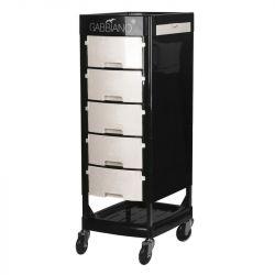 GABBIANO Kadeřnický úložný stolek FT65 černo/bílý
