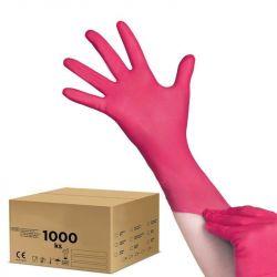 Jednorázové nitrilové rukavice malinové - karton 10ks - velikost M (AS)
