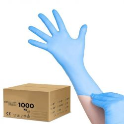 Jednorázové nitrilové rukavice modré - S - karton 10ks (AS)