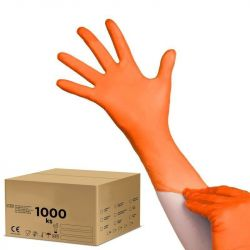 Jednorázové nitrilové rukavice oranžové - karton 10ks - velikost L (AS)