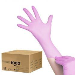Jednorázové nitrilové rukavice růžové  XL - karton 10ks (VP)