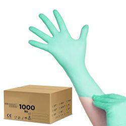 Jednorázové nitrilové rukavice zelené - XS - karton 10ks (AS)