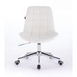 Kosmetická židle HR590K na kolečkách bílá