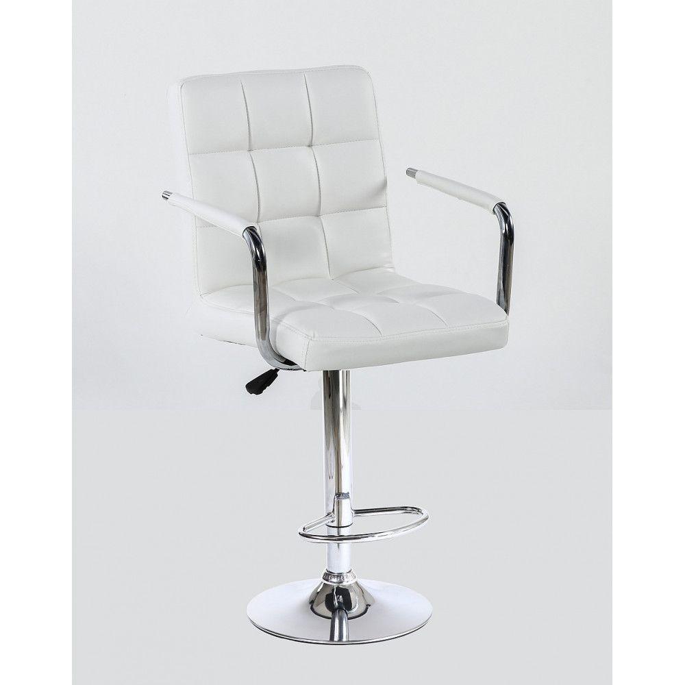 Barová židle s područkami 1015wp bílá