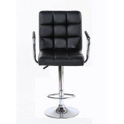 Barová židle s područkami 1015wp černá