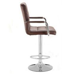 Barová židle s područkami 1015wp hnědá