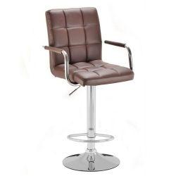 Barová židle s područkami 1015wp hnědá (VPT)